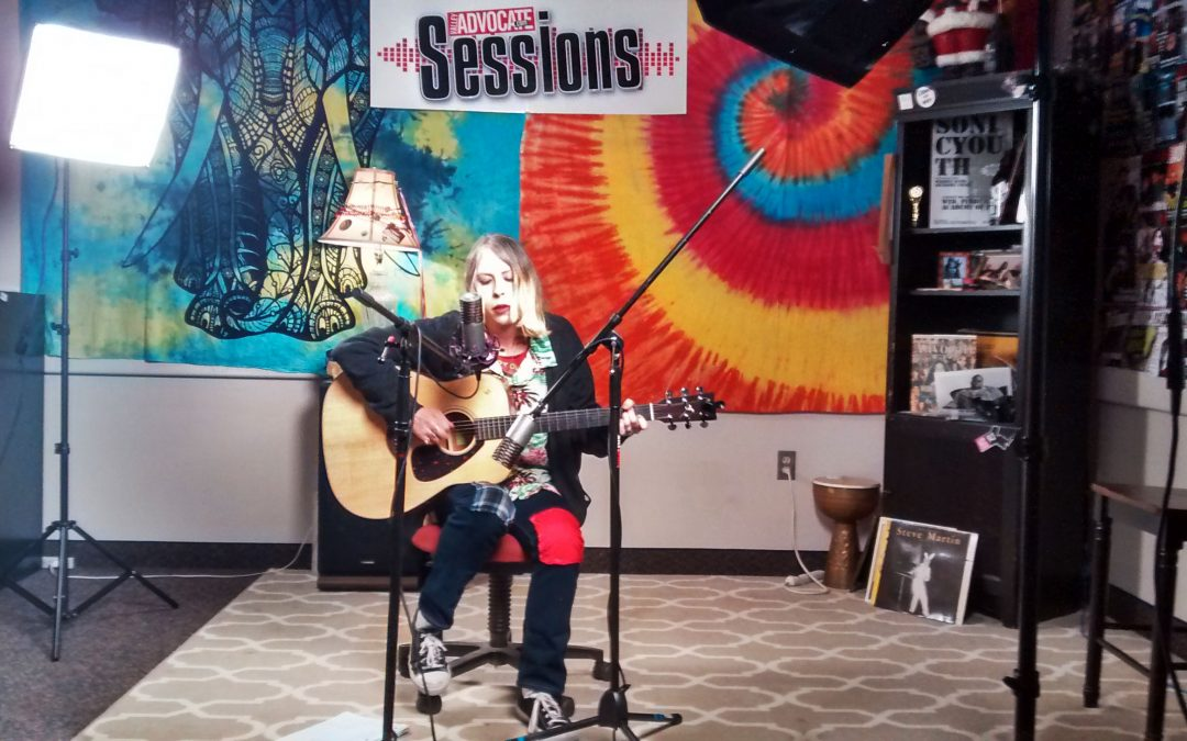 Julia Clark on the Valley Advocate Sessions Stage