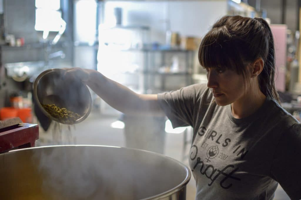 Liz DeSousa, co-owner of Kismet Brewing Company in Westfield. Facebook photo.