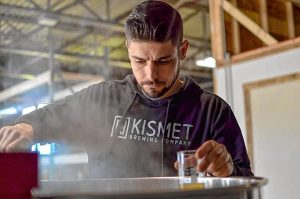 Rich DeSousa, co-owner of Kismet Brewing Company in Westfield. Facebook photo.