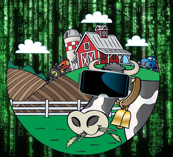 Bizarro Briefs: Cows hooked into the Matrix