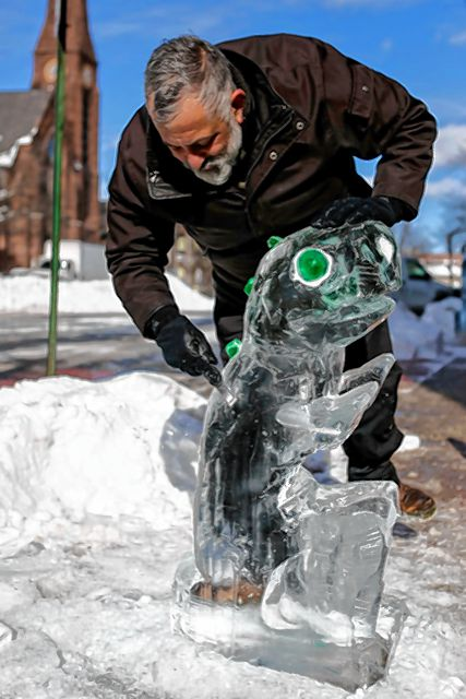 Ice sculpture/ artist Rob Kimmel will be sculpting a dragon out of ice during this year's Luminaria in Amherst.
