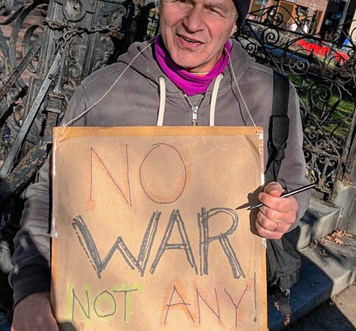 Sign-Holding Stalwarts: A talk with some regulars at Northampton's weekly anti-war protest