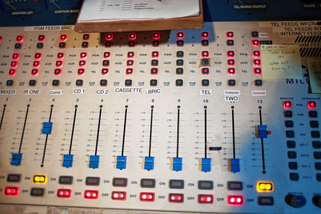 A control panel at Valley Eye Radio.