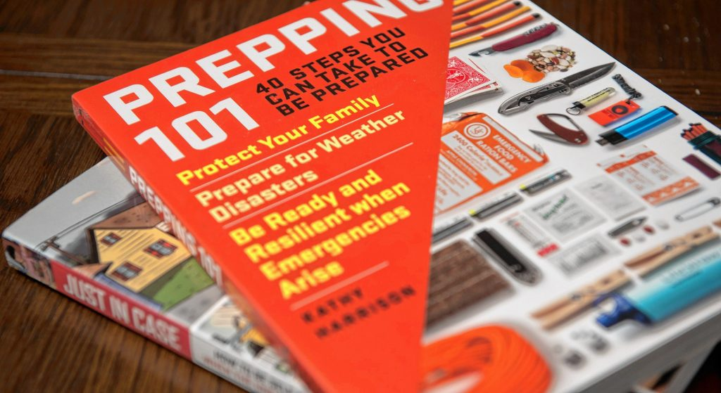 """Prepping 101"" and ""Just in Case,"" written by Kathy Harrison, of Easthampton."