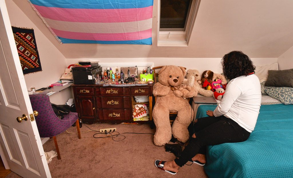 Natty in her room at the home of her sponsor, Friday, Mar. 6, 2020.