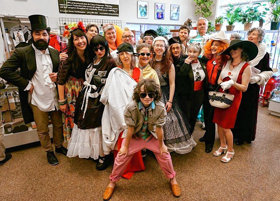 """A """"fashion show"""" fundraiser in 2018 at the Cancer Connection Thrift Shop. With the shop closed due to COVID-19, the nonprofit group is looking for other sources of funding."""