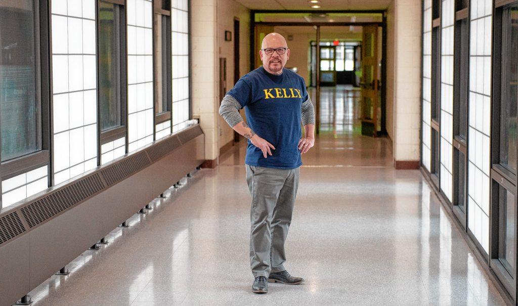 Luis Soria is the principal of Dr. Marcella R. Kelly School in Holyoke. Photographed on Wednesday, March 25, 2020.