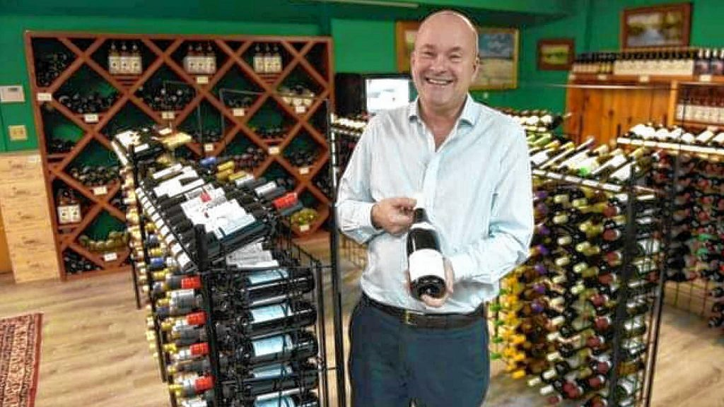 """William Seibert, owner of Shelburne Falls Cork, points to Chateu de La Liquière as a favorite wine this year. """"This wine helps me get through the pandemic, as it brings back memories of an earlier time,"""" Seibert says."""