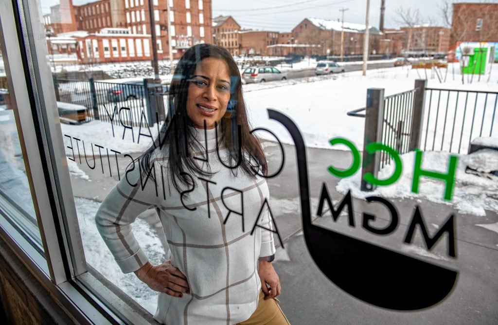 Damaris Aponte of Holyoke earned a certificate at the HCC MGM Culinary Arts Institute in 2019. She is applying for a marijuana delivery license with plans to open her own delivery business this summer. Photographed at the institute in Holyoke on Thursday, Feb. 11, 2021.