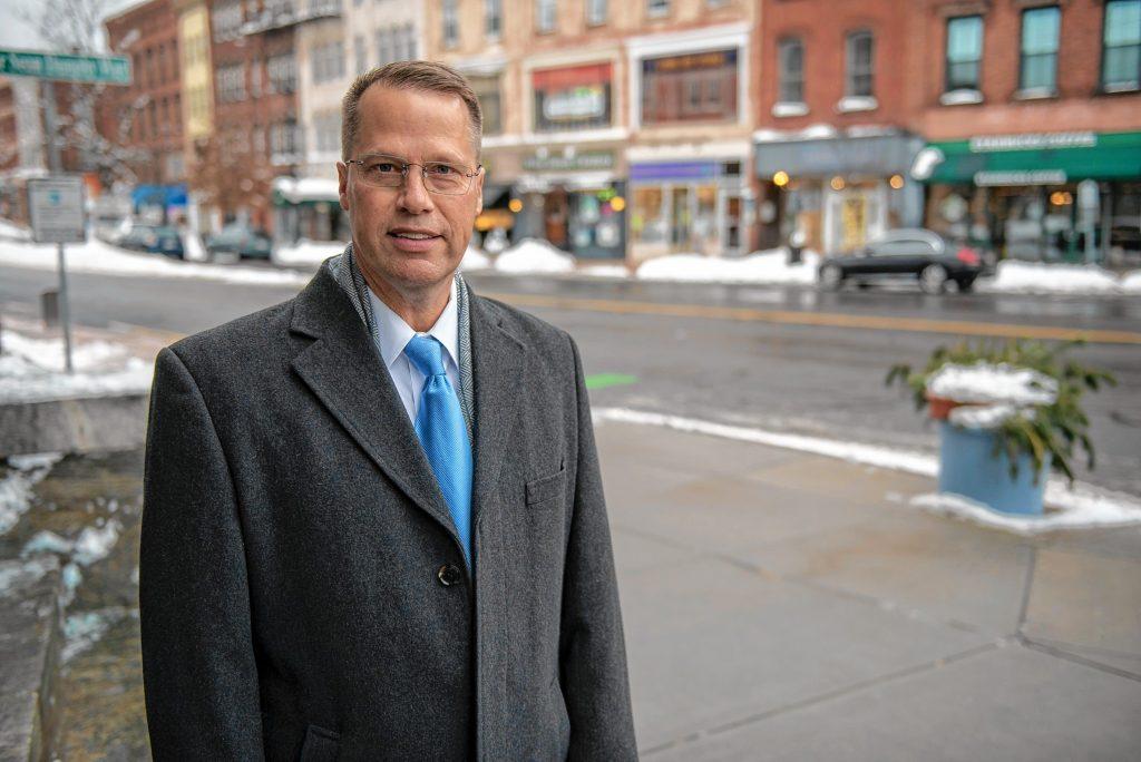 Northampton Mayor David Narkewicz. Photographed outside City Hall on Tuesday, Feb. 2, 2021.