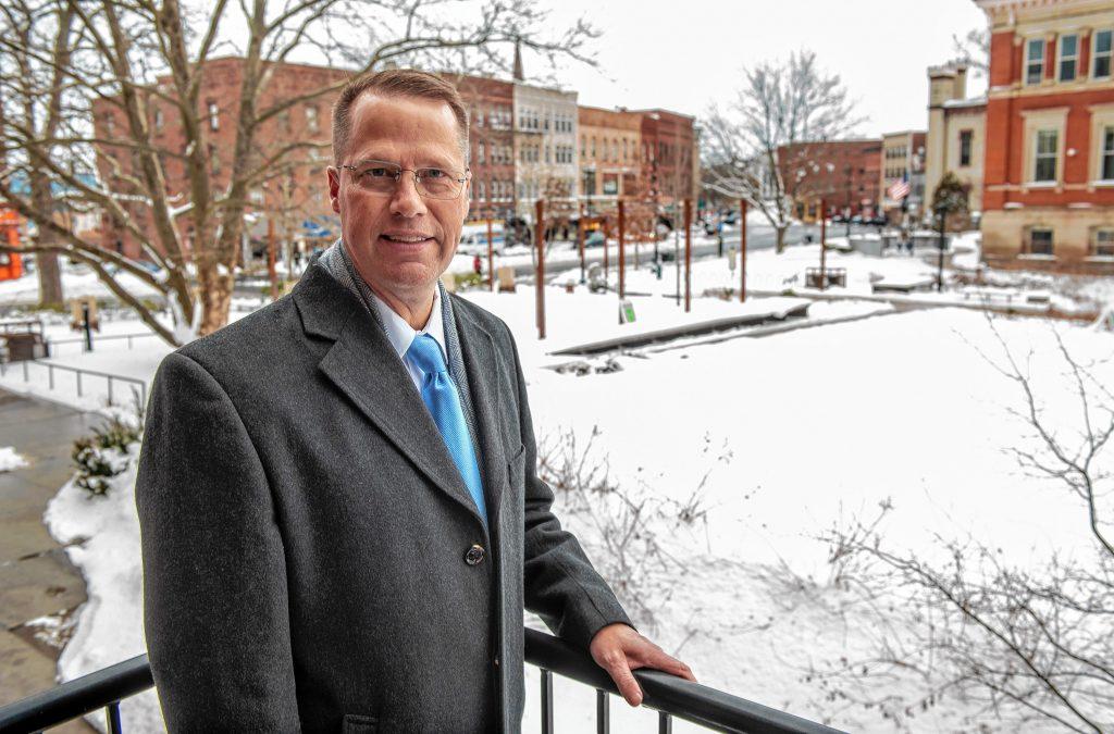 Northampton Mayor David Narkewicz. Photographed in Pulaski Park on Tuesday, Feb. 2, 2021.
