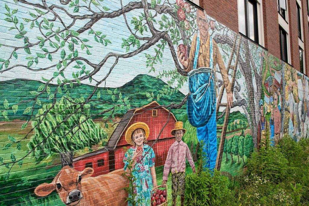 Amherst Community History Mural at West Cemetery.