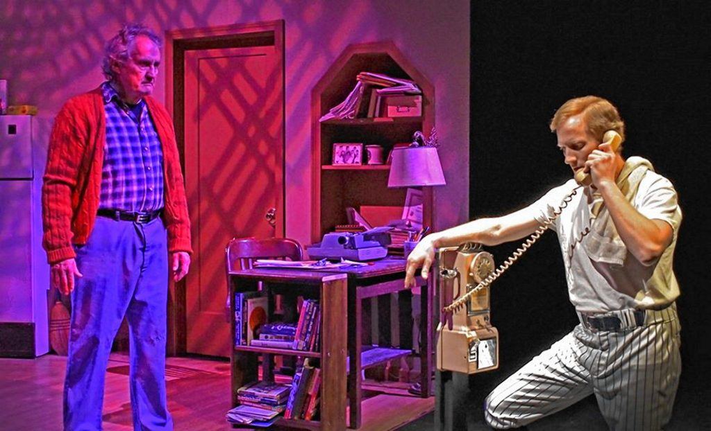 """The Majestic Theater in West Springfield will reopen the show the pandemic closed. """"The Pitch,"""" a world premiere by Northampton-based Stan Freeman, is  a baseball fantasy. It is expected to  hit the stage on Aug. 7."""