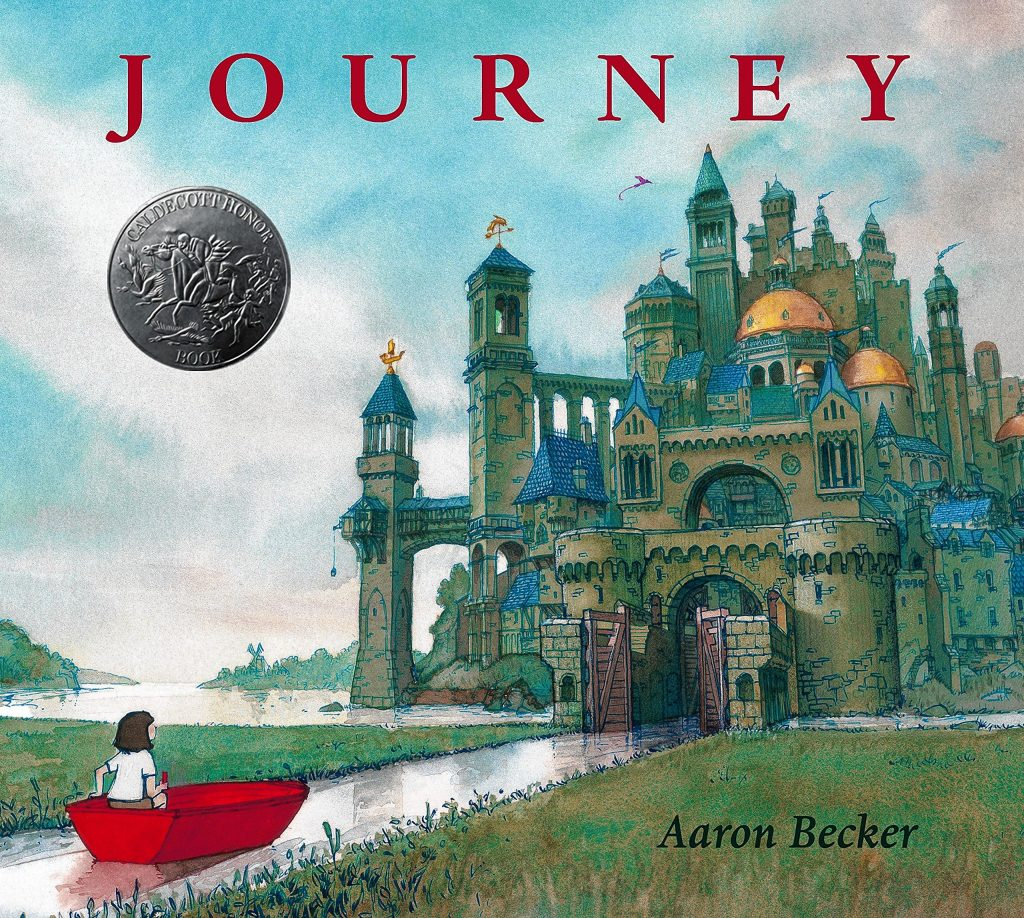 """The cover of the Caldecott Honor book """"Journey"""" by Amherst children's book illustrator and author Aaron Becker, whose work will be on view at Hope & Feathers Gallery in Amherst in September."""