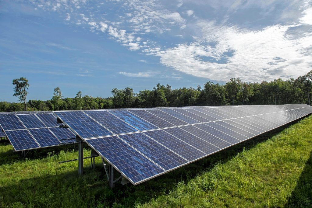 View of an approximately 30-acre solar farm north of Pulpit Hill Road in Amherst on Monday, Aug. 16, 2021.